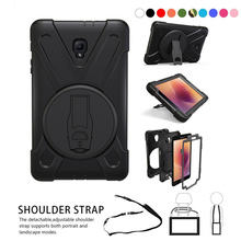 Case for Samsung Galaxy Tab A 8.0 T380 T385 SM-T385 2017 8.0inch tablet Heavy Duty Silicone Hard Cover+Neck strap & Hand holder цена и фото