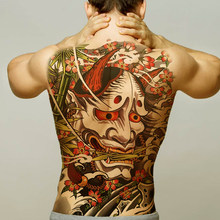 temporary men tattoos water transfer tattoo full back large tatoo fake dragon wings tattoo and body art sticker sexy decals big(China)