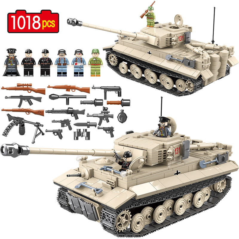 Military Building Blocks Tank WW2 Panzer German Tiger Legoing Educational Bricks