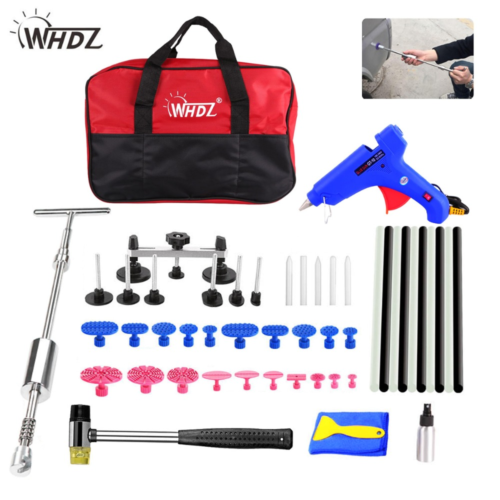 WHDZ PDR tools Car Paintless Dent Removal Repair Tools 2in1Slide Hammer puller bridge glue gun glue sticks Tool Set For Car Dent whdz pdr auto body paintless dent removal repair tools kits bridge puller 2in1slide hammer glue puller automotive door ding dent