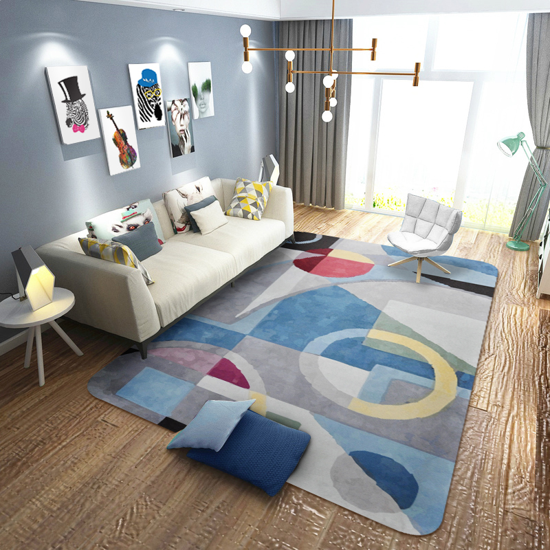 Fashion Geometry Creative Large Area carpets for living room Bedroom Kids Crawl Floor Mat Home Decor Soft Rugs alfombra tapis in Carpet from Home Garden