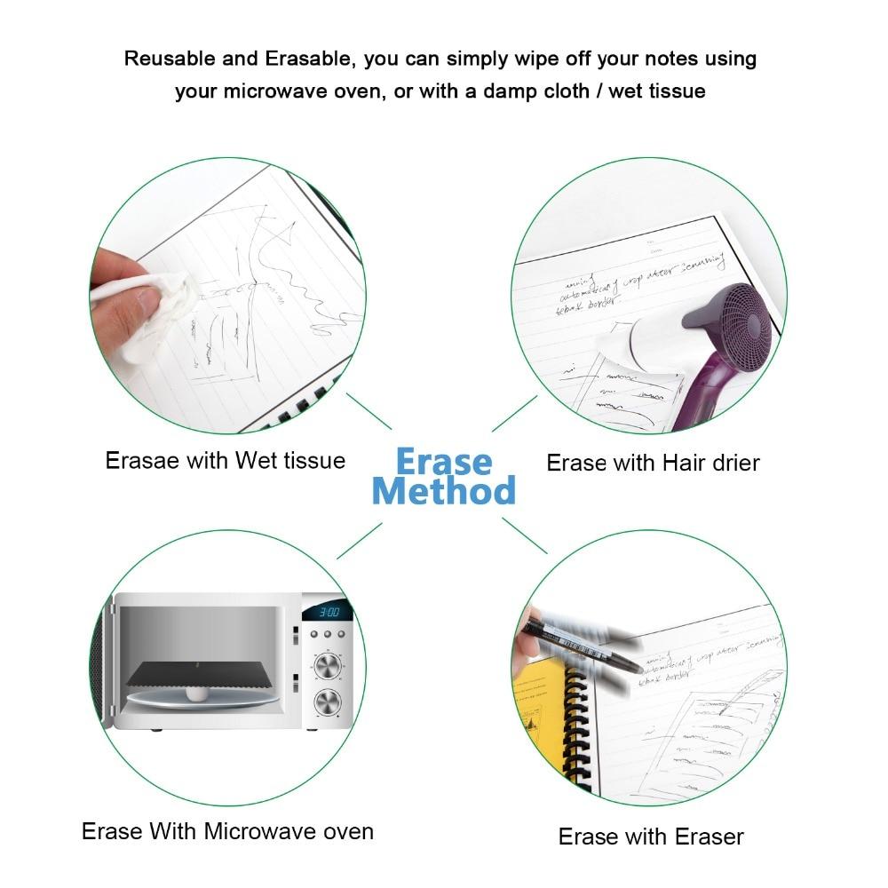 2021 Elfinbook Smart Reusable Erasable Spiral A5 Notebook Paper Notepad Pocketbook Diary Journal Office School Drawing Gift 2