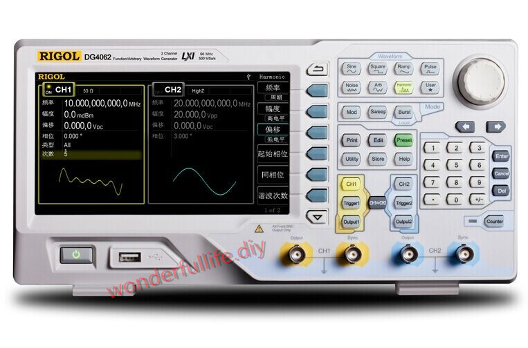 Rigol DG4062 Function/Arbitrary Waveform Generators