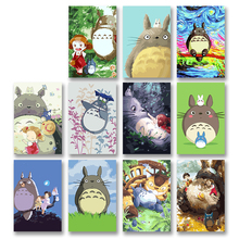 DIY colorings pictures by numbers with colors Totoro Hayao Miyazaki anime picture drawing painting  framed Home