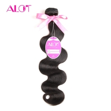 ALot Hair Brazilian Body Wave Hair Bundles Human Hair Extensions 8-28Inch Natural Color Non Remy Hair Extension 1 PC Shipps Free
