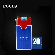 FOCUS New Design Cigarette Case Box Aluminum Alloy Ladies Slim Waterproof Plastic Cases can holder 20 pcs cigarettes