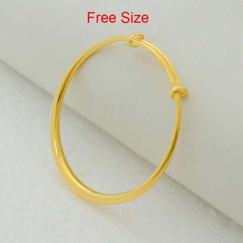 Anniyo Arab Bangles Free Size for Women Gold Color Africa Bracelet
