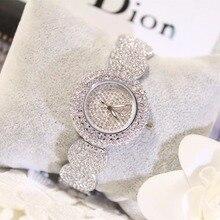 2019 Super Slim Full Rhinestone Watches Women Top Brand Luxury Casual Clock New Ladies Diamond Wrist Watch Lady Relogio Feminino