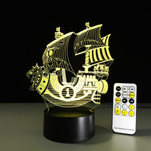 One Piece 3D Led Night Light THOUSAND SUNNY Lamp One Piece Action Figure Colorful USB LED Acrylic Lighting