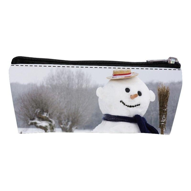 Новые поступления полиэстер Печать Китайский Стиль Снеговик мальчики кошелек девушки портмона дамы ключевой бумажник детские ручки сумки