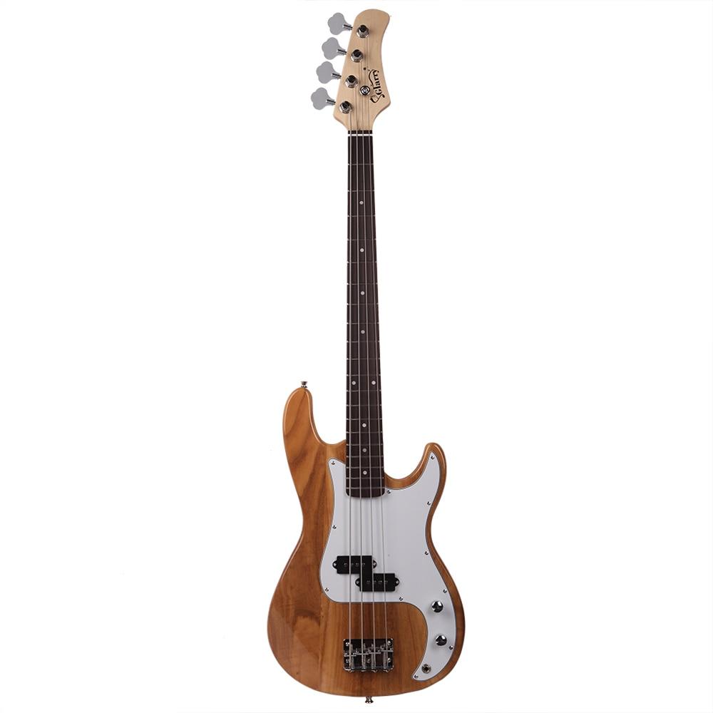 Guitare basse électrique Glarry GP pour apprenants débutants Guitarra avec clé à cordon outil cordes de musique Instrument-Stock US