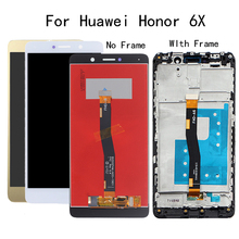 5.5 inç Huawei Onur Için 6X lcd ekran BLN L24 BLN AL10 BLN L21 BLN L22 dokunmatik ekran digitizer Için Çerçeve Ile GR5 2017 Ekran