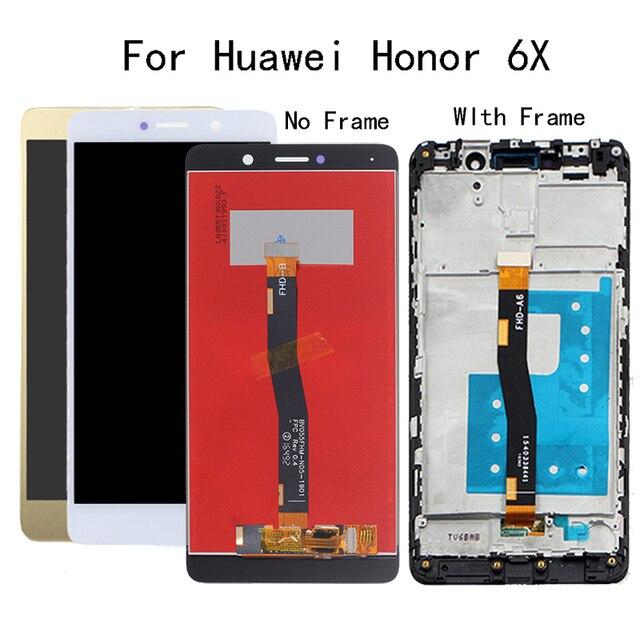 5.5 inch Voor Huawei Honor 6X LCD Display BLN L24 BLN AL10 BLN L21 BLN L22 Touch screen Digitizer Met Frame Voor GR5 2017 Display