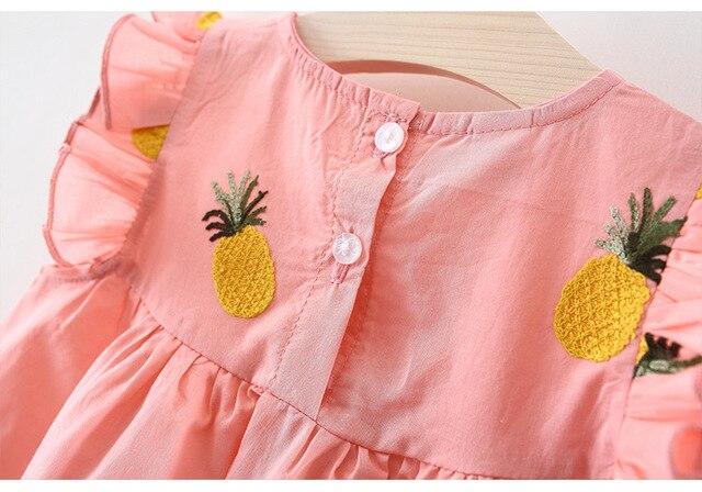 Baby Girls Clothes Summer Baby Dress Frill Sleeve Newborn Infant Dresses Cotton Pineapple Sleeveless Toddler Dresses 5