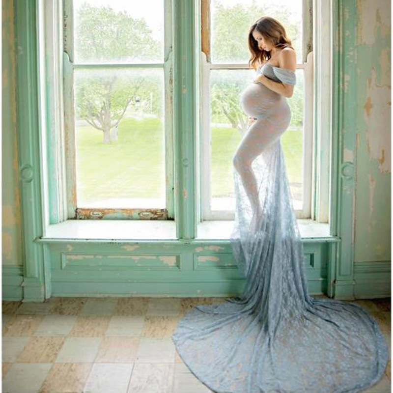 New Sexy Maternity Dresses For Photo Shoot Lace Maxi Maternity Gown Clothes For Pregnant Women Pregnancy Dress Photography Props (5)