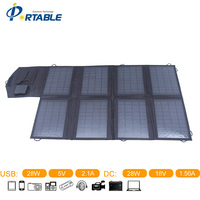 28Watt Solar Charger For Laptop Solar Mobile Charger For Iphone Solar Panel Battery Charger DC USB