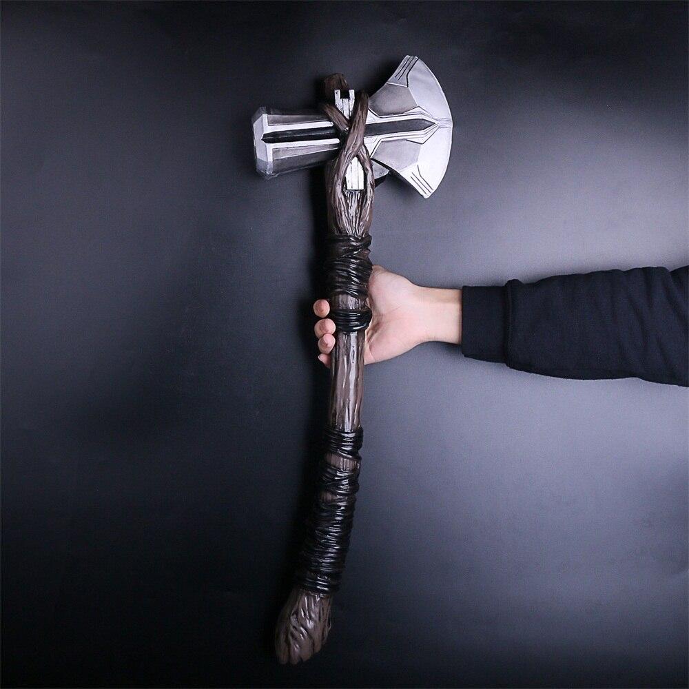2018 Avengers 3 Infinity War Thor Stormbreaker Axe Cosplay Thor New Handmade Axe (7)