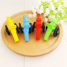 1Pcs Stationery Supplies Kawaii Cartoon Pencil Erasers cute Cannon office Correction Kid learning Gifts