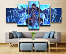 Modular HD Print Artwork Modern Animation Poster Home Decor Wall Art 5 Pieces Akame Ga Kill! Esdeath Pictures Canvas Painting