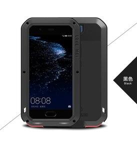 Image 3 - Huawei P30 P40 Pro P20 lite P10 Mate 30 Pro 20 10 Nova 4e 3e 4 durumda aşk MEI metal zırh alüminyum silikon su geçirmez kılıf