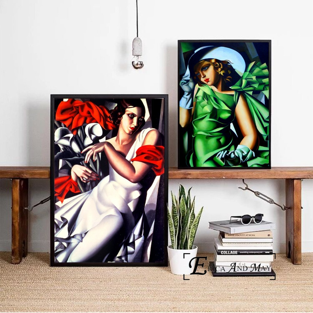 Tamara De Lempicka Abstract Women Wall Art Canvas Painting Poster For Home Decor Posters And Prints Unframed Decorative Pictures