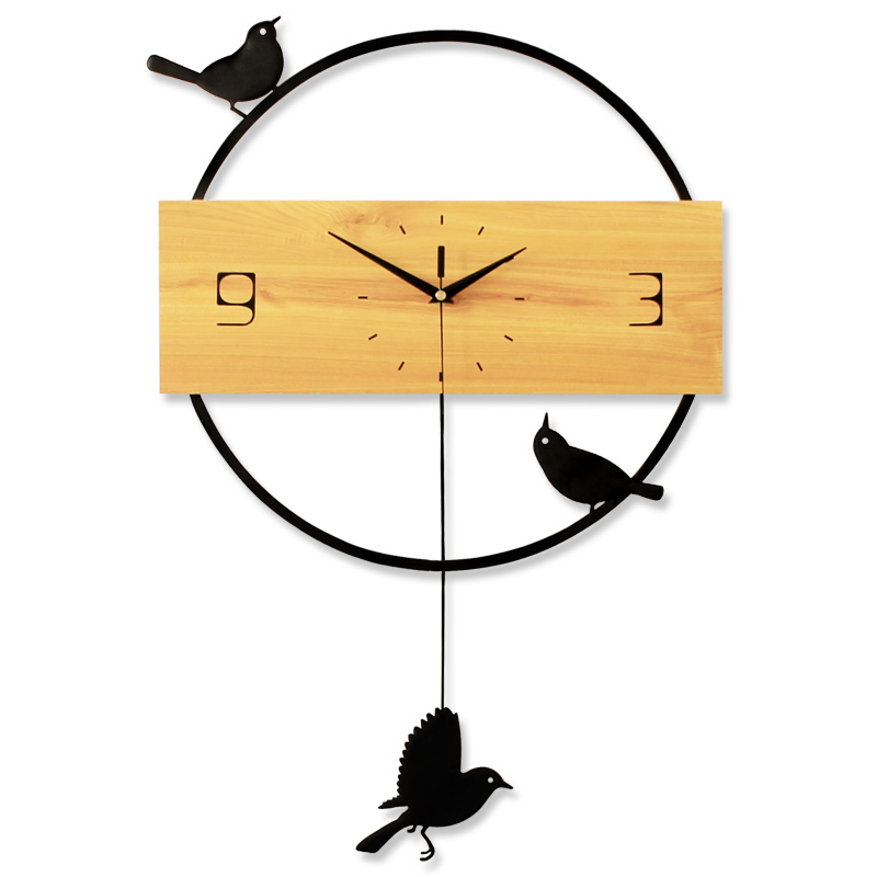 Creative Nordic Wall Clock Birds Mute Digital Wall Clocks Mute Living Room Bedroom Wall Watch Home Decor Clock Modern Design
