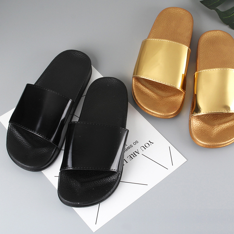 Summer Slippers Bling Women Slides Soft Sole Glitter Indoor & Outdoor Sandals Beach Slides Flip Flops Women Shoes Gold Silver 3