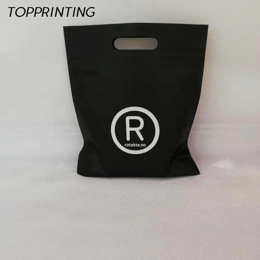Wholesale 500pcs lot 25Hx20cm Promotional Custom Reusable Bag Non Woven Shopping Bags with Die cut Handle