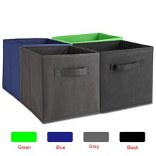6PCS/Lot Large Tool Box Case Nonwoven Fabric Foldable Drawer Storage BinsHousehold Home Toys Clothes Organizer(China)