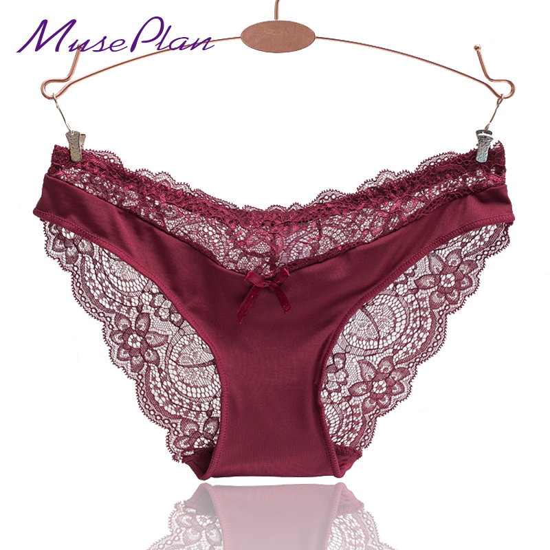 Europe and America size women sexy lace panties seamless cotton breathable ..