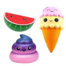 купить Slow Rising Squishies Jumbo Scented Squishy Squeeze Toy Stress Reliever Gift for Girls and Boys, Kids and Adults (Ice Cream + дешево