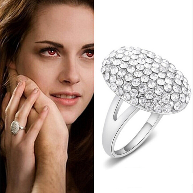 New hot selling Twilight Bella wedding ring full CZ zinc alloy