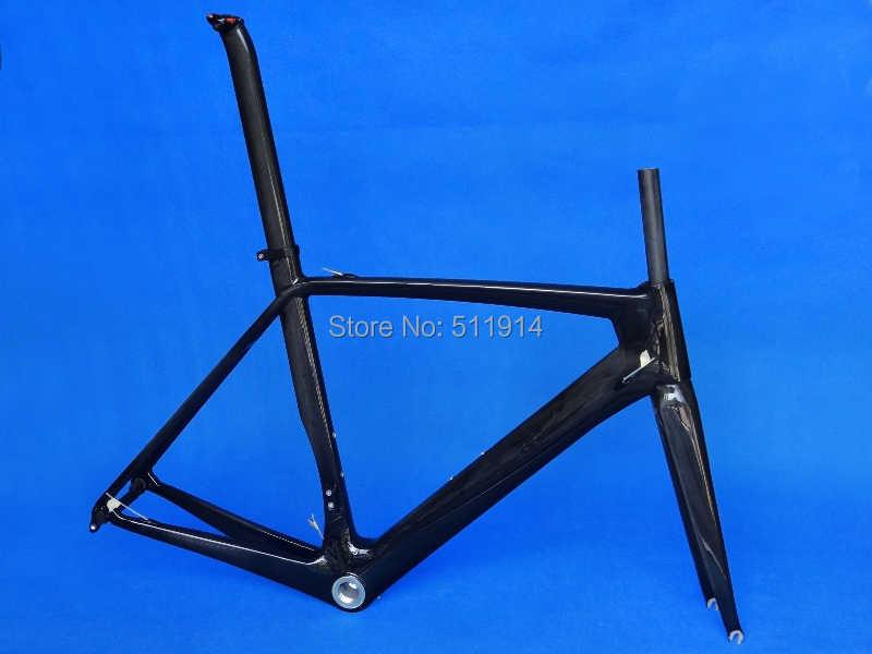 FLYXII nuevo carbono completo UD brillante bicicleta de carretera cable interno BSA marco horquilla tija abrazadera FR-316