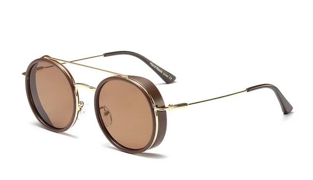 MEROAFLY Round Designer Brand Luxury Women Sunglasses 2019 Retro Round Glasses Steampunk Male Sunglasses UV400 Fashion Shades