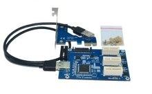 Free shipping High quality PCIE PCI E PCI-E 1X 1PORT TO 3PORT PCI-E 1X USB 3.0 Cable Adapter