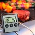 Termómetro Digital para horno, termómetro para agua, leche, carne, barbacoa, sonda para cocinar alimentos con temporizador, accesorios de utensilios para cocina