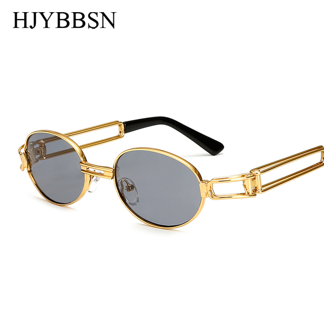 7b0ce216d4 2017 Hip Hop Retro Small Round Sunglasses Women Vintage Steampunk  Sunglasses Men Gold sun Glasses for