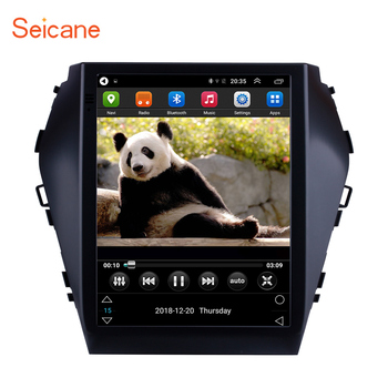 Seicane 9.7 Inch Android 6.0 Car Radio WIFI Bluetooth Multimedia Player GPS Navigation For 2015 2016 2017 Hyundai Santafe IX45 image
