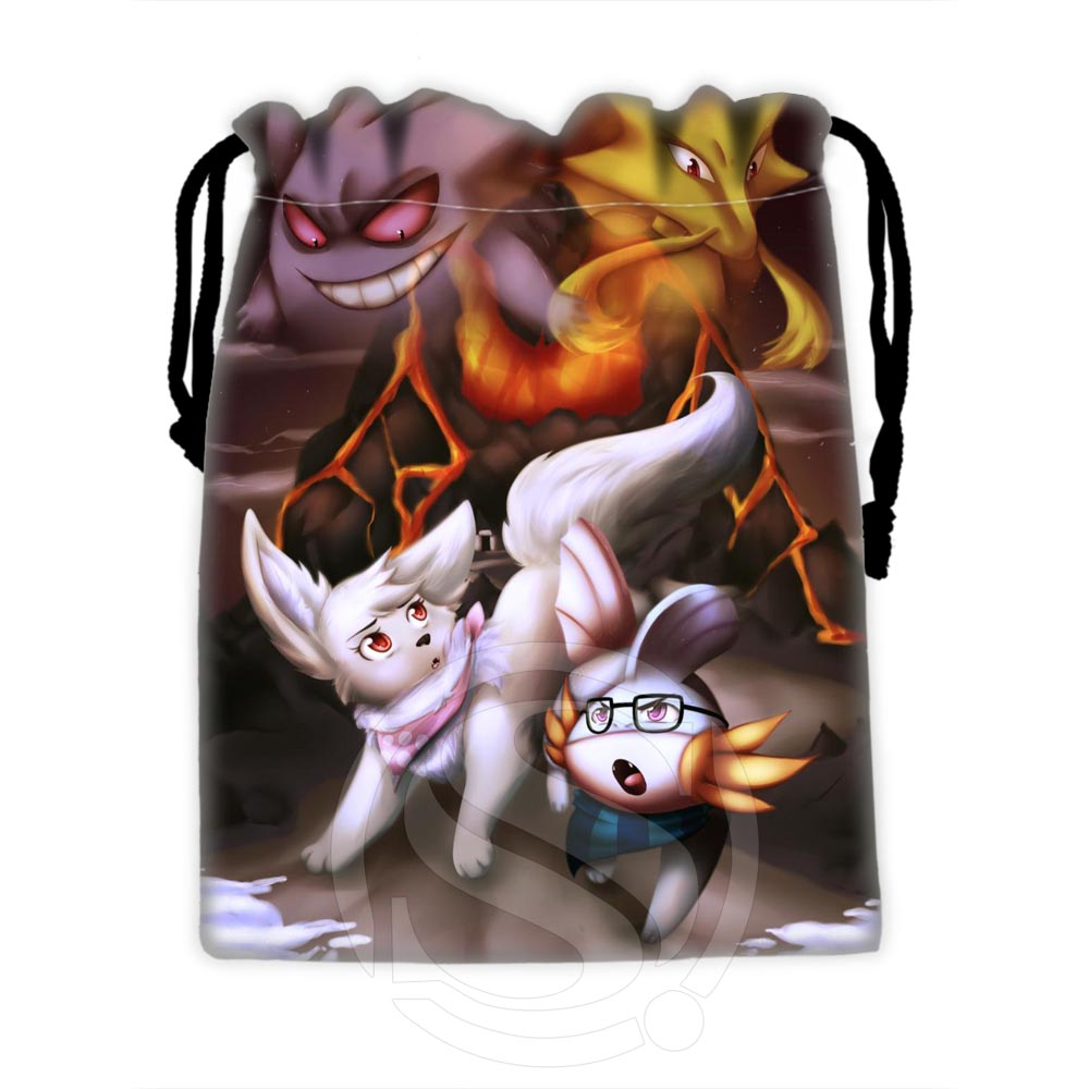 Custom Eevee #1 High Quality Drawstring Bags For Mobile Phone Tablet PC Packaging Gift Bags18X22cm SQ00729-@H0563