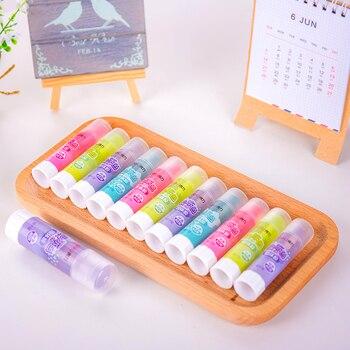 Школьные и офисные принадлежности, твердый клей, крепкий клей, твердый клей-карандаш для детей, яркие цвета, сплошной клей, 8 г