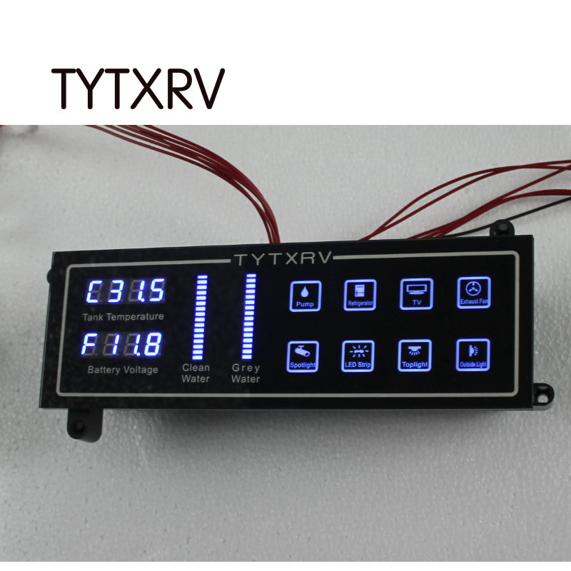 Touch Control Panel Water Level Indicator Voltemter Caravan Accessories 12V Camper Motorhome Control System