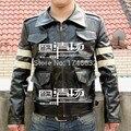 Горячая Фильм Biohazard Resident Evil Леон Скотт Кеннеди косплей костюм Куртка Пальто Кожаная одежда На Заказ Любого Размера