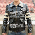 Hot Movie Biohazard Resident Evil Leon Scott Kennedy cosplay costume  Jacket Coat Leather clothing Custom-made Any Size