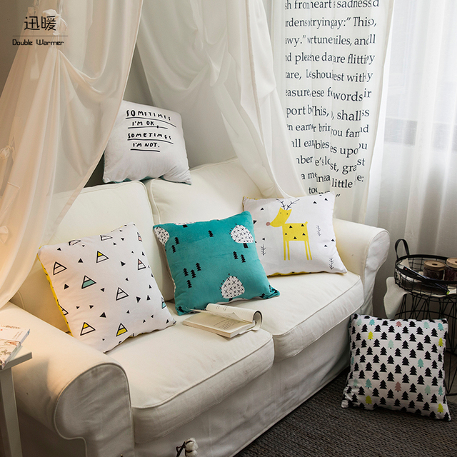 Beau Top Finel Durable Cotton Linen Square Decorative Throw Pillows Cushion Sofa  18 X18 Inch 5 Kinds