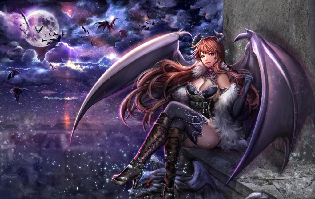 ¿Quién tiene el mejor disfraz? [Libre 2/??] Living-room-home-wall-decoration-fabric-poster-anime-girls-anime-knee-highs-corsets-font-b-horns