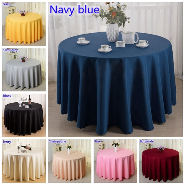 DEAREST 10PCS Hotel Table Cloth Polyester Table Linen Hotel Banquet Round  Tables Decoration Wholesale