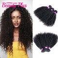 3B 3C Textura Da Malásia Kinky Curly Virgem Do Cabelo 3 pcs Humanos Extensões de cabelo 8-30 Polegada Afro Kinky Cabelo Encaracolado Jerry Onda Virgem cabelo