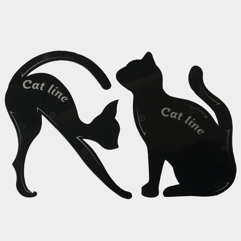 aliexpress com buy 1 set cat eyeliner stencil professional