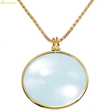 HOT Brand 6x Magnifier Pendant Necklace Magnify Glass Reeding Decorativ Monocle Necklace