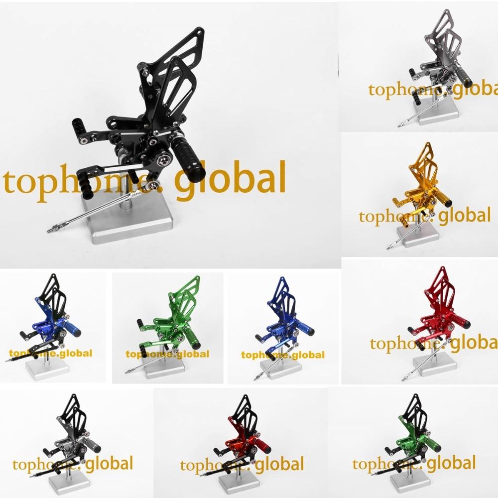 For Suzuki GSXR1000 2001 - 2004 CNC Rearsets Foot Pegs Footpeg Rear Brake Shift Adjusting Set GSXR GSX-R 1000 2002 2003 стоимость